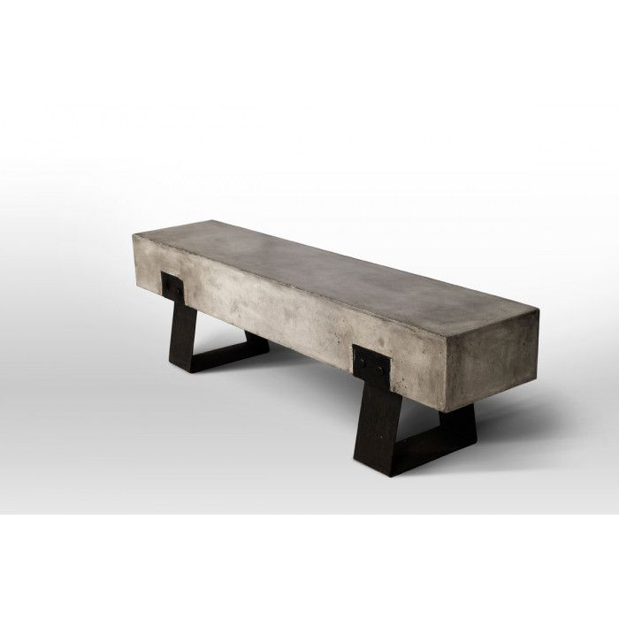 Modern Concrete Benches: The Modrest Haring Modern Concrete Bench Is A Picture Of