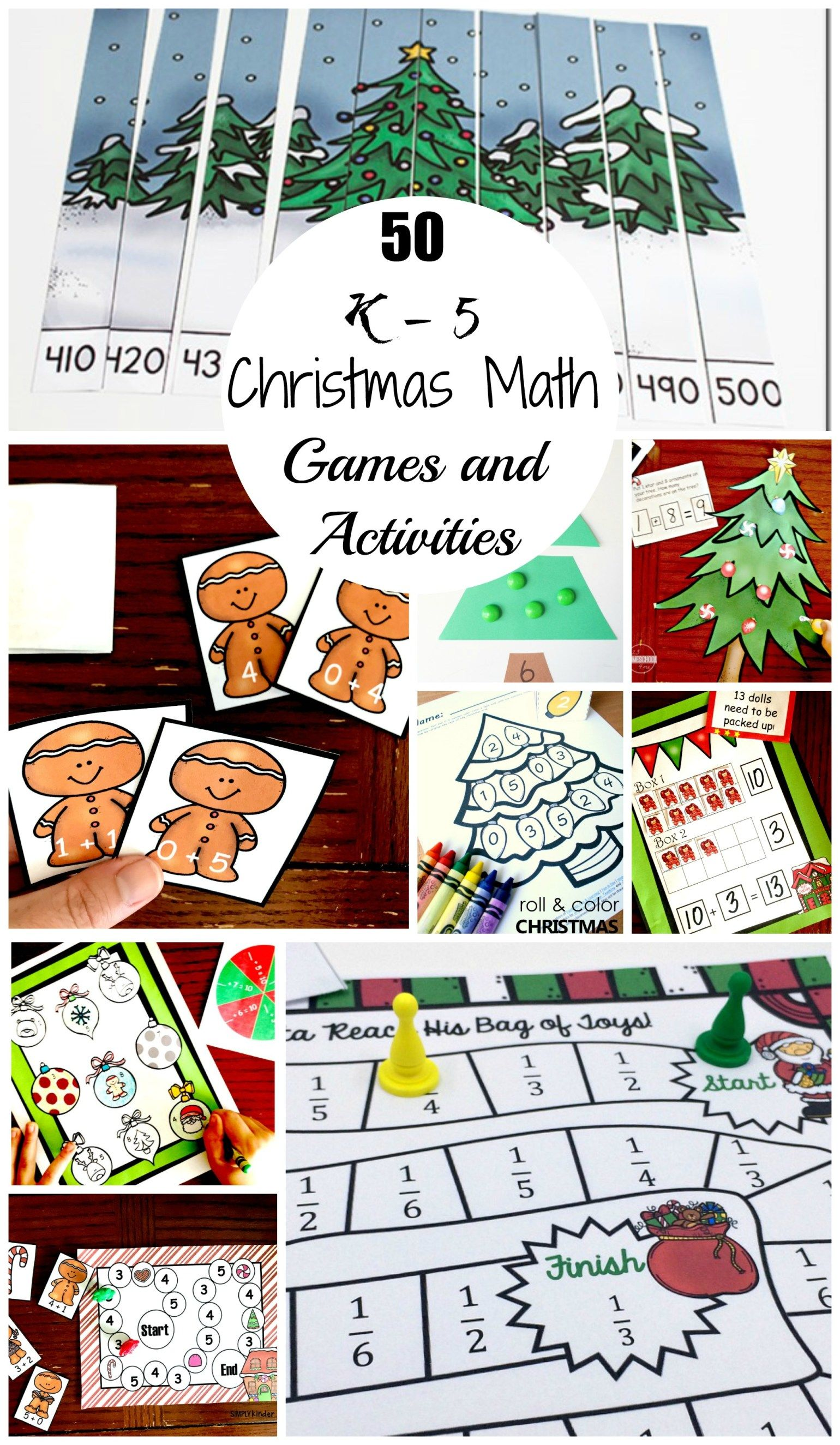 50 Christmas Math Games And Activities For Upper And Lower