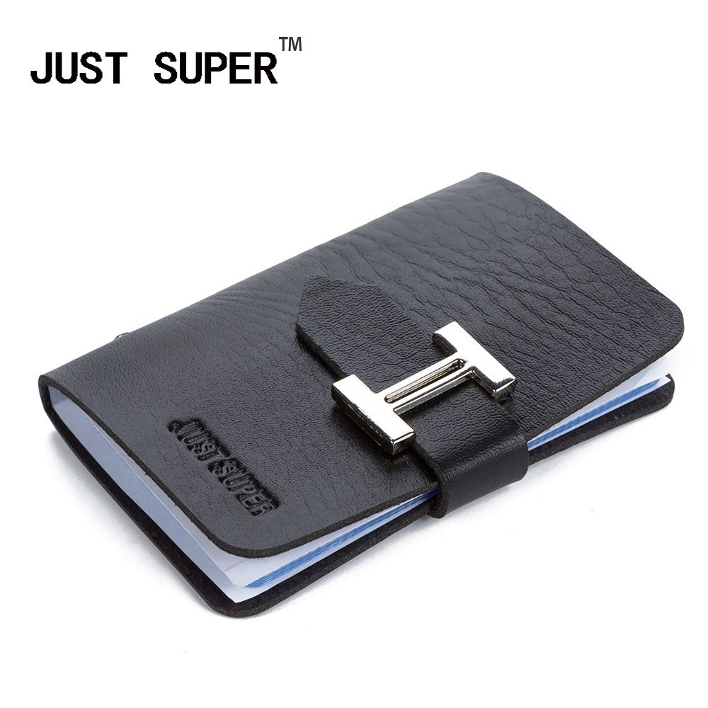 Hot New Fashion Men & Women Business Cards Wallet Simple PU Leather ...