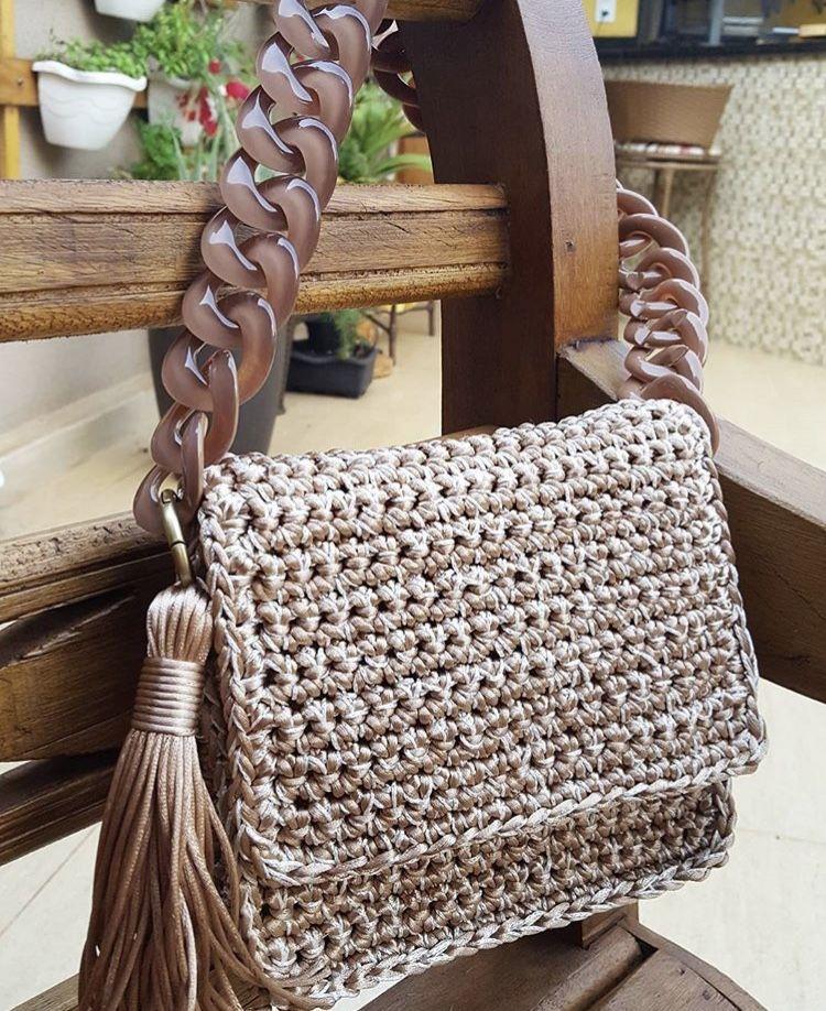 Feito à mao | Crochet Bags | Pinterest | Textilgarn, Gehäkelte ...