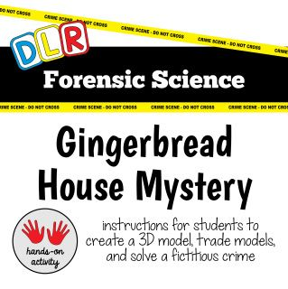 forensic science gingerbread house mystery 3d model activity christmas lesson forensic science. Black Bedroom Furniture Sets. Home Design Ideas