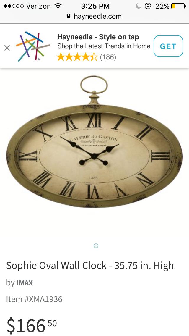 Pin By Casey Clark On Clocks Clock Hayneedle Com Wall