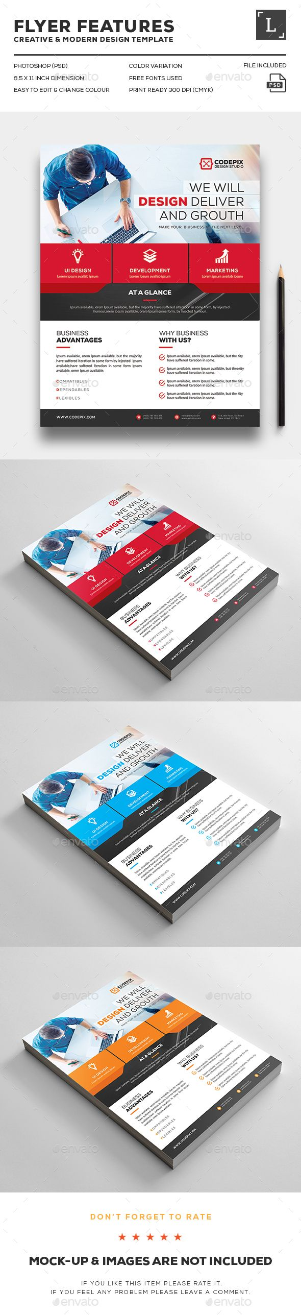 Corporate Flyer | Flyer template, Template and Flyer printing