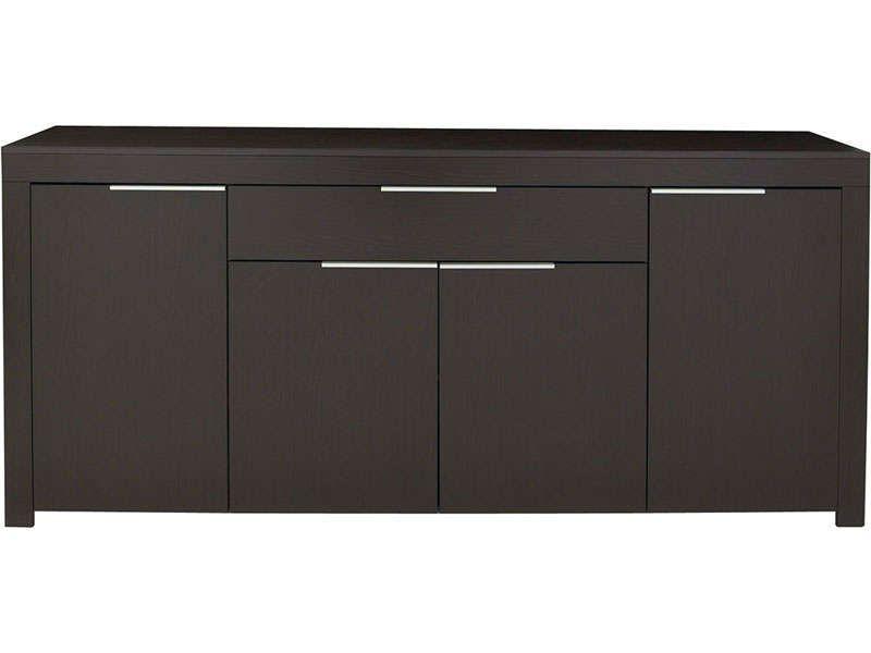 Enfilade 4 portes + 1 tiroir RUBIS coloris ébène - Vente de Buffet - Conforama Meuble De Cuisine