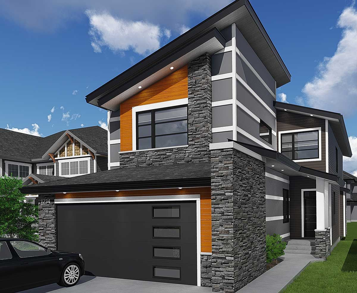 Plan 81685ab Contemporary House Plan With Tech Area Modern Style House Plans Contemporary House Plans House Plans
