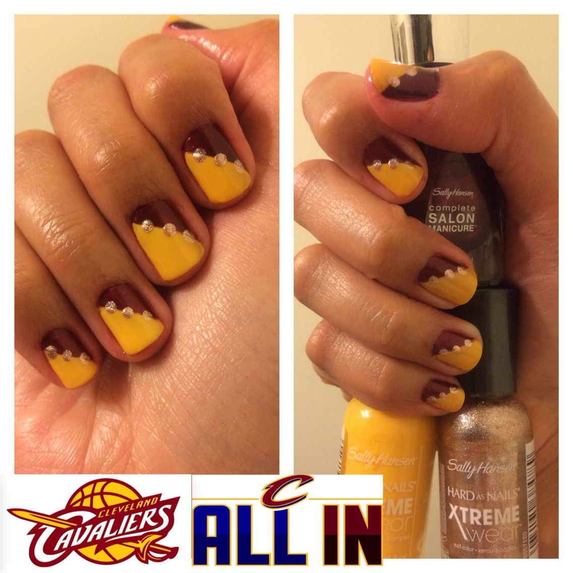Nails inspired by Cleveland Cavaliers! | Nails | Pinterest ...