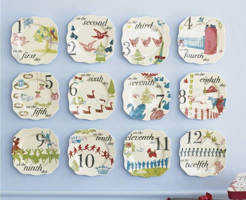 12 Days Of Christmas Appetizer Plates  sc 1 st  Pinterest & 12 Days Of Christmas Appetizer Plates   Gift Ideas   Pinterest ...