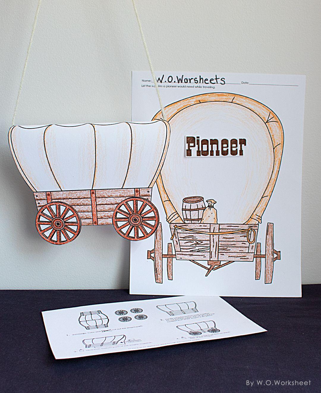 Pioneer Craft Pioneer Crafts Math Crafts Covered Wagon Craft [ 1323 x 1080 Pixel ]