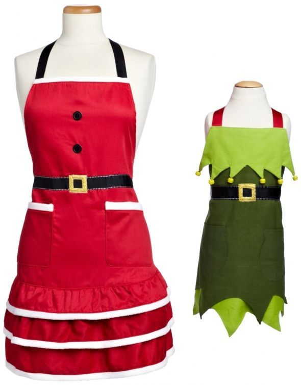 Something Adult holiday aprons phrase Who