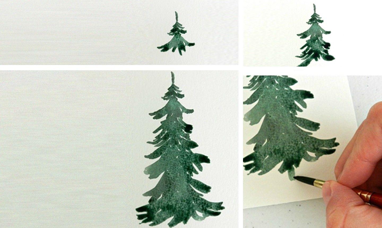 tập vẽ cây thông