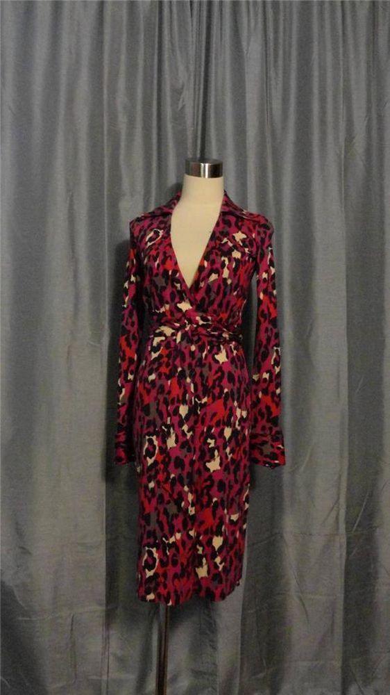873d1e064437 DIANE von FURSTENBERG VINTAGE JUDY Leopard Print Silk Jersey Knit Wrap Dress  2 #DianevonFurstenberg #WrapDress #DVF #Ebay #Fashion