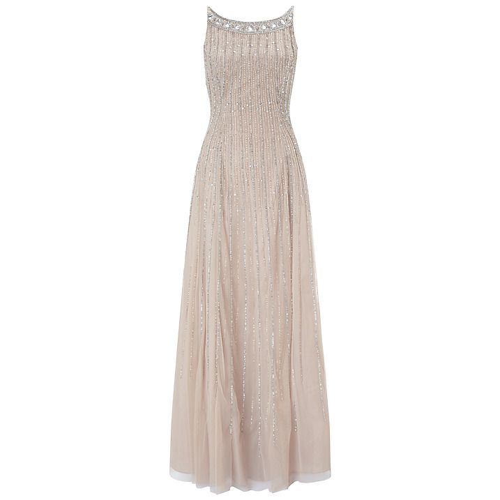 Buy Aidan Mattox Sleeveless Beaded Gown, Champagne, 6 Online at ...