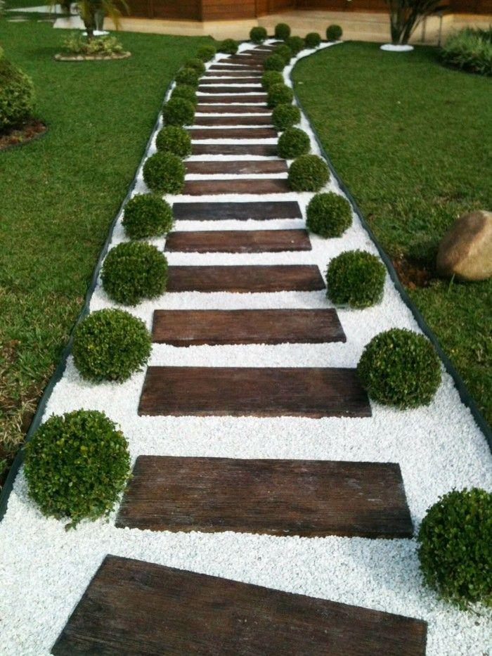 Der Gartenweg - 50 Gartenwege, welche Sie durch den Außenbereich ...
