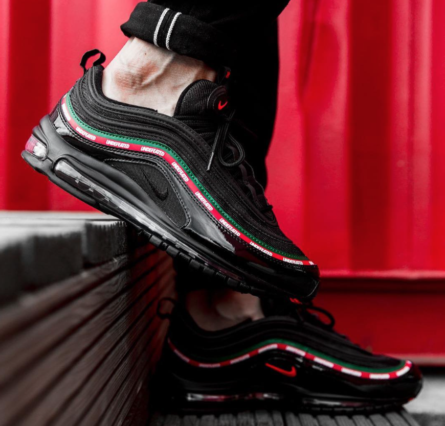 dd430cb4b7 Release Reminder: Undefeated x Nike Air Max 97 Black | Runway ...