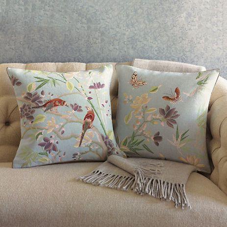 Bird & Butterfly Pillows Gump s pillow collection