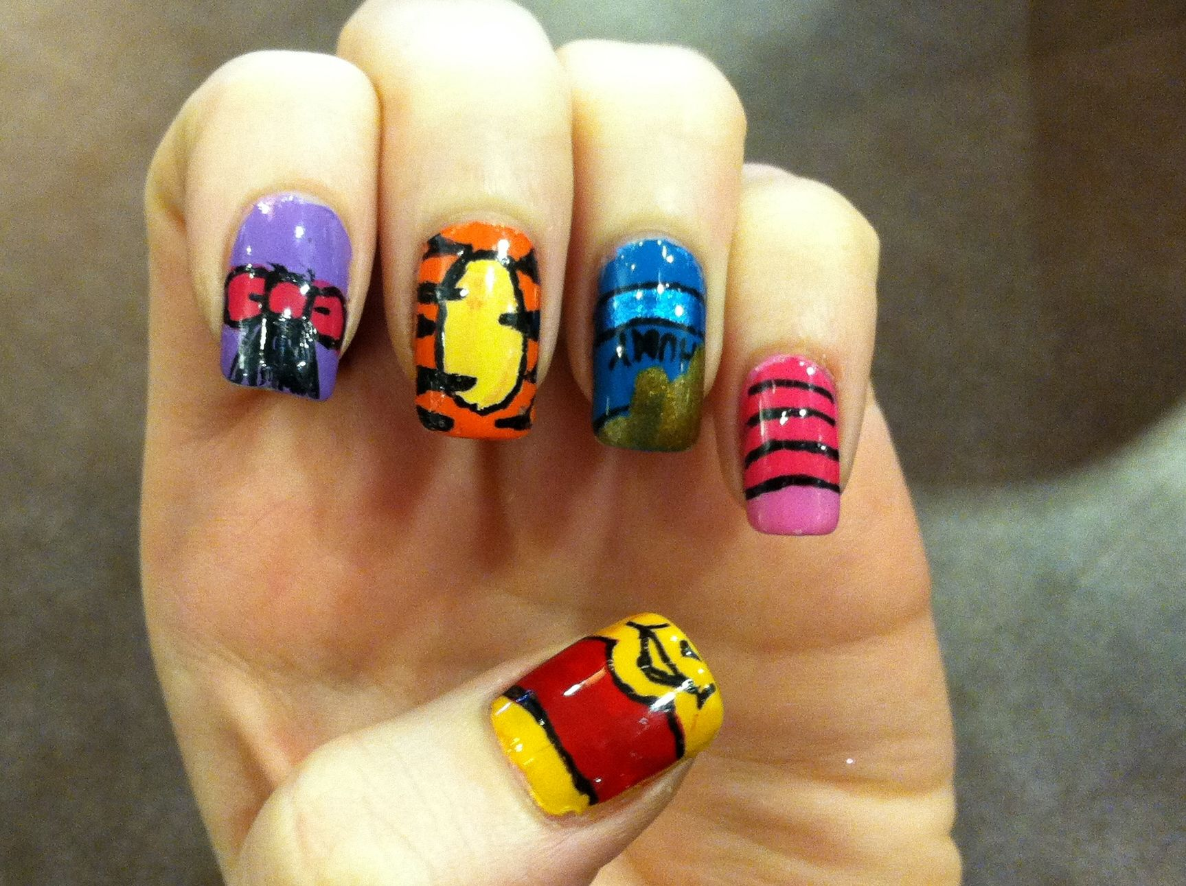 cute baby winnie the pooh nails - Google Search | winnie the pooh ...