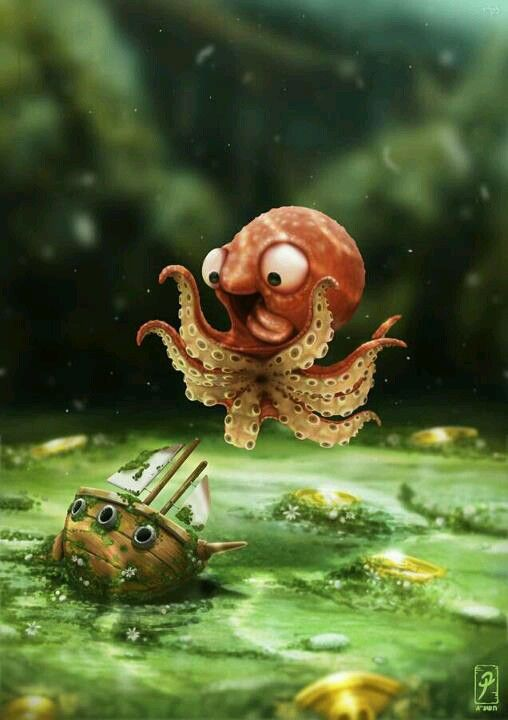 Cute lol | Kraken, Cute animals, Art