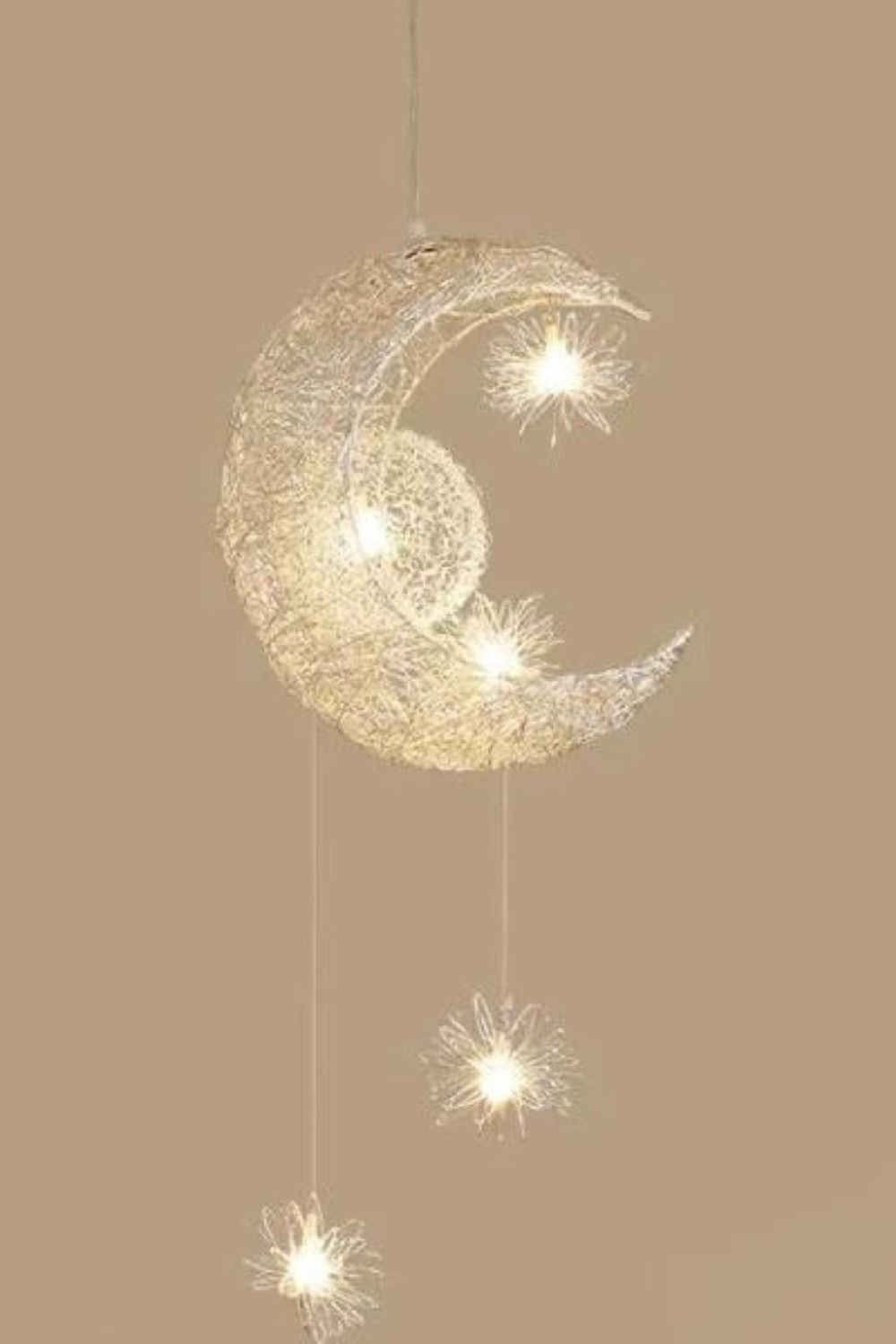 Modern Pendant Lighting Moon Star Hanging Lights Children Bedroom