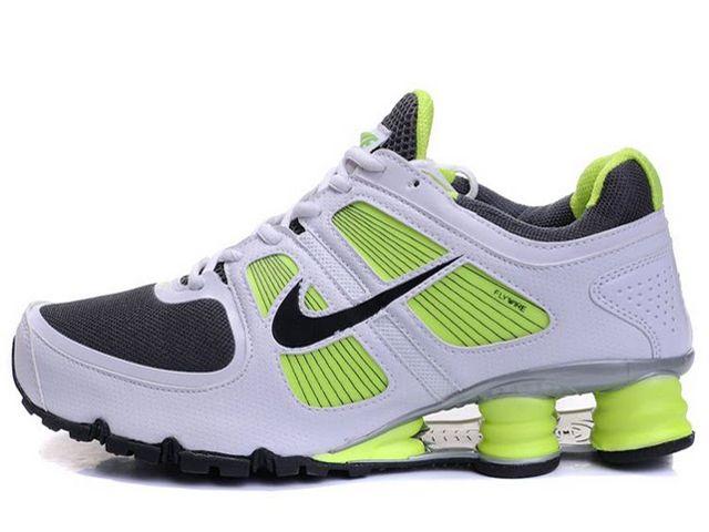 Chaussures Nike Shox Turbo Blanc Noir Vert [nike_12448