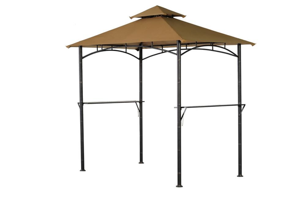 Tiki 8 Ft X 5 Ft Grill Gazebo With Built In Shelves Grill