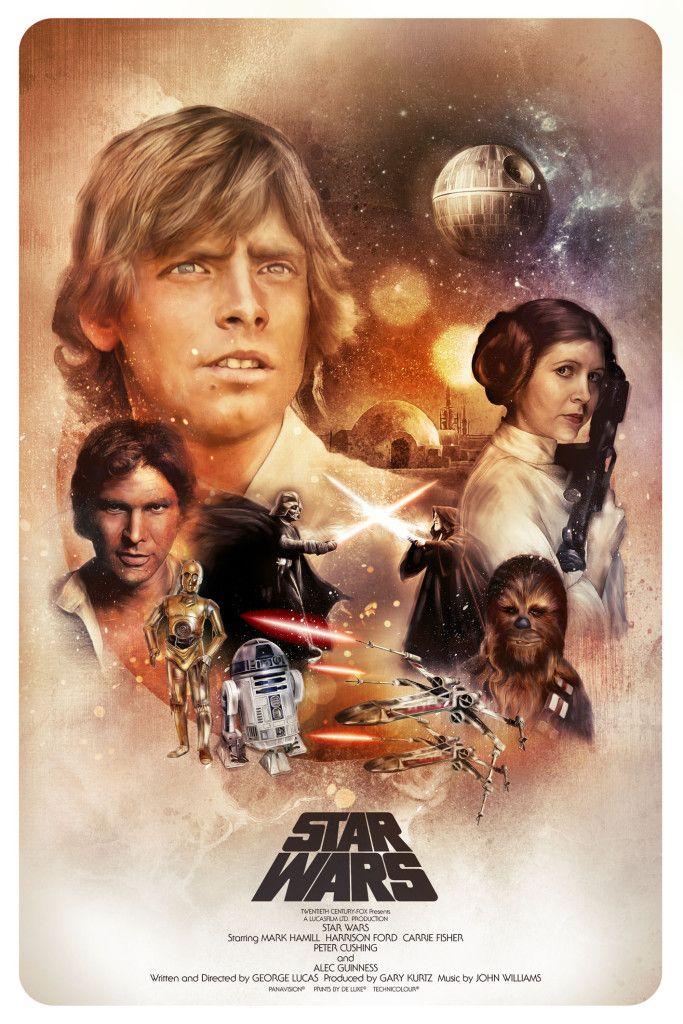 Star Wars Episode Iv A New Hope Star Wars Episode Iv Eine Neue Hoffnung Krieg Der Sterne 映画 ポスター オビワン スターウォーズアート