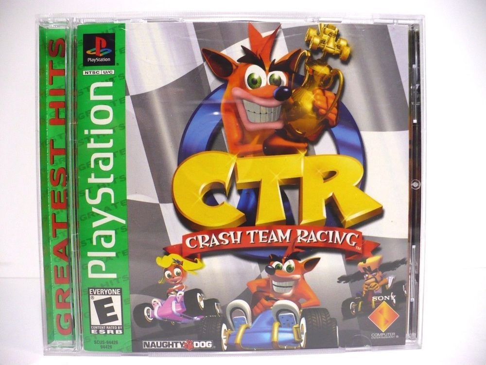 Crash Team Racing CTR (PlayStation) Greatest Hits Green