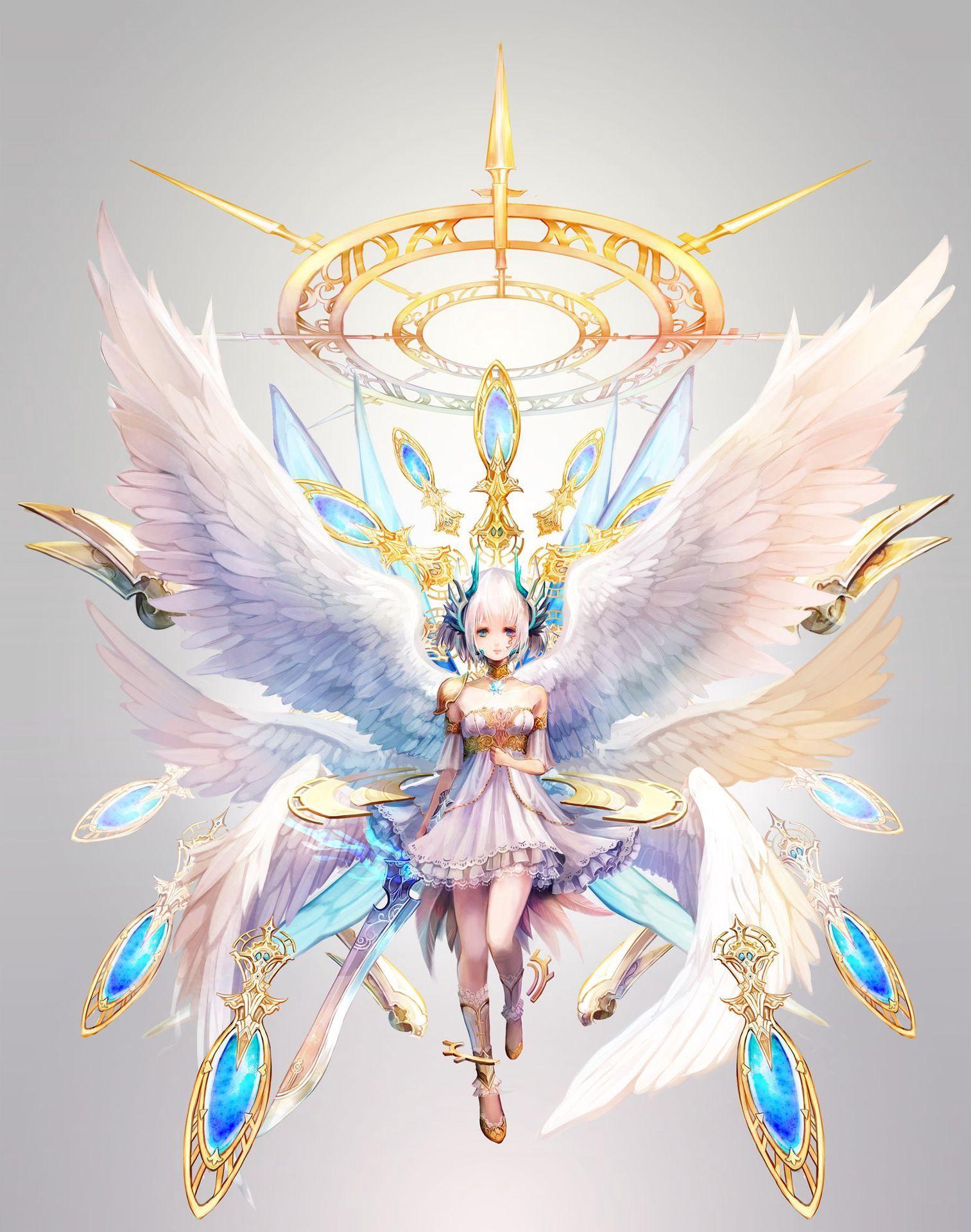 Angel Anime Wings : angel, anime, wings, Anime