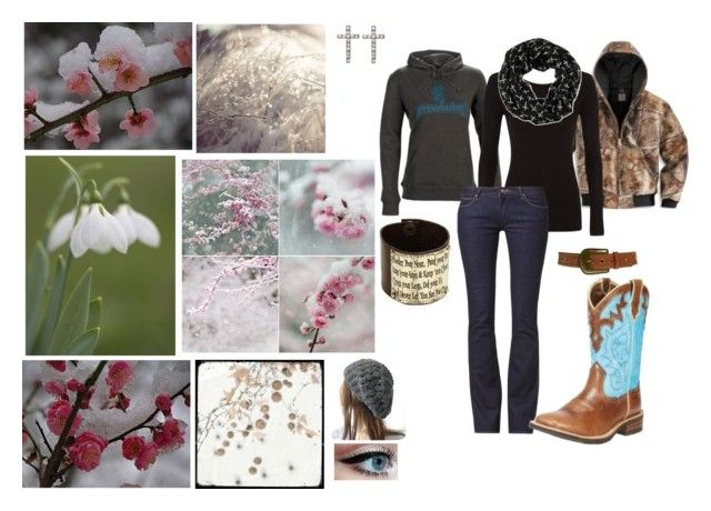"""""""Spring Snow"""" by redneckgirl19 ❤ liked on Polyvore featuring Carhartt, D&Y, Wrangler, Ariat, New Look, Wet Seal and Gypsy SOULE"""