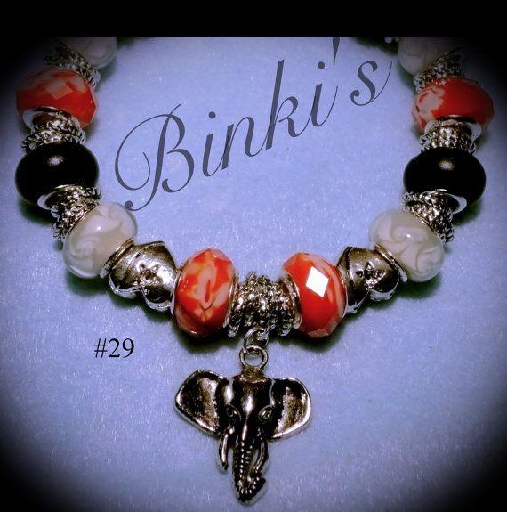 Alabama Charm Bracelet: Alabama Jewelry/Alabama Pandora Style Charm By Binkisbling