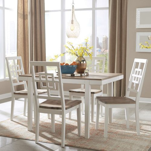 Anguilla 5 Piece Dining Set Birchlane Kitchen Dining Sets Dining Room Sets Rectangular Dining Room Table