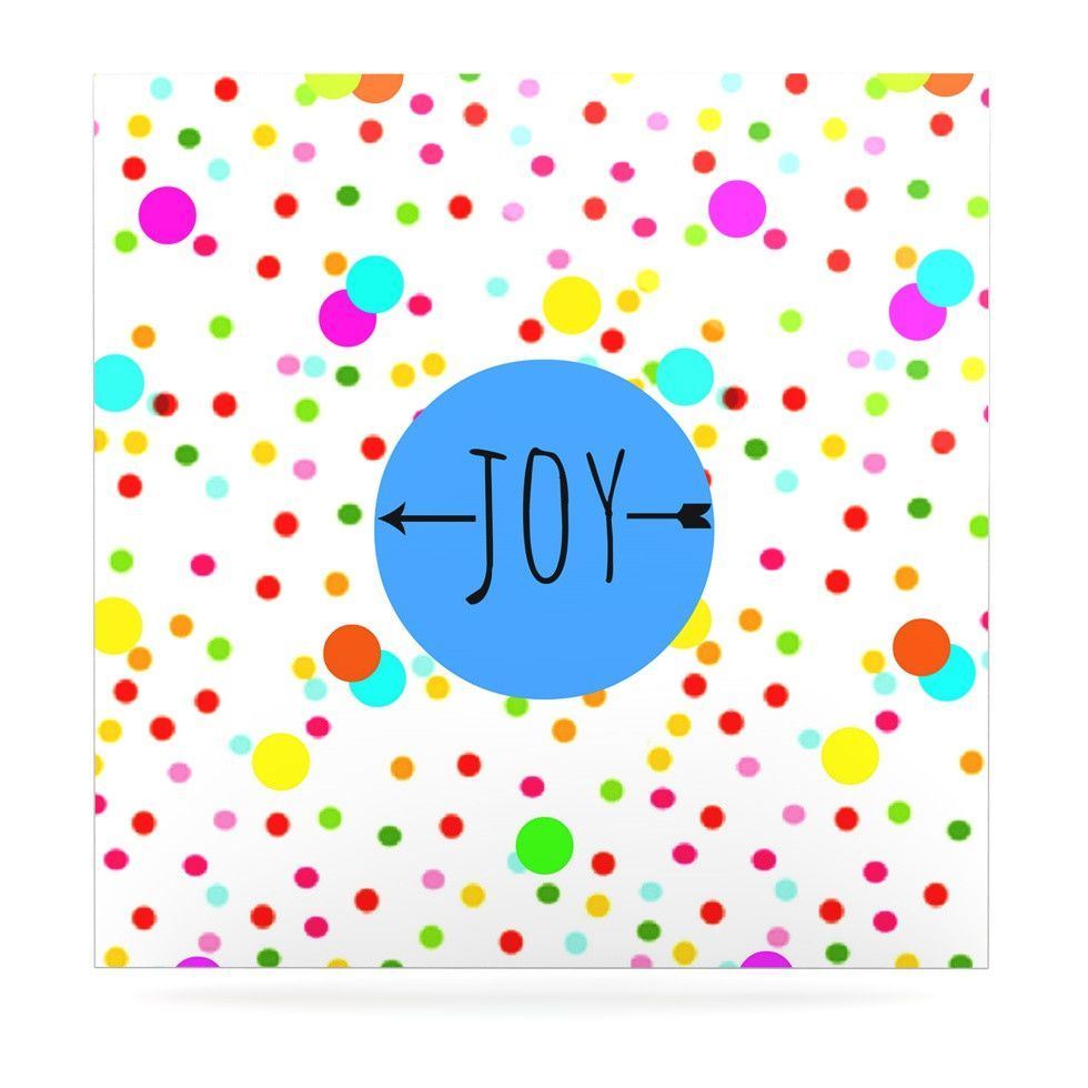 "Sreetama Ray ""Oh Joy"" Rainbow White Luxe Square Panel"