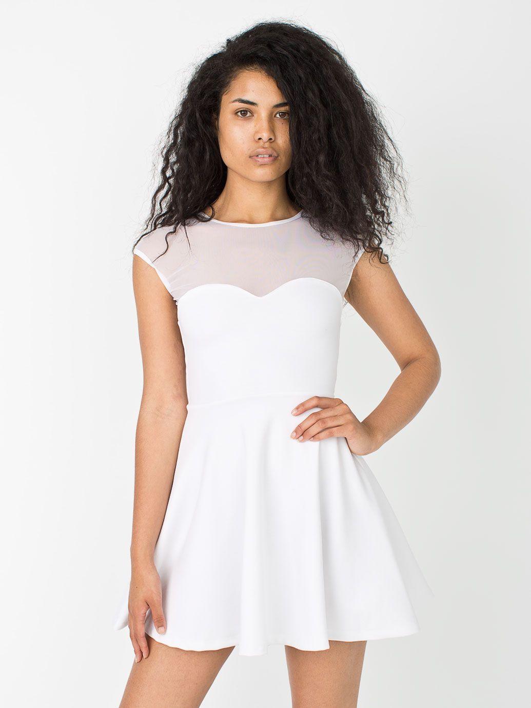 Ponte Sweetheart Skater Dress American Apparel Flashy Fashion Dresses American Apparel [ 1380 x 1035 Pixel ]
