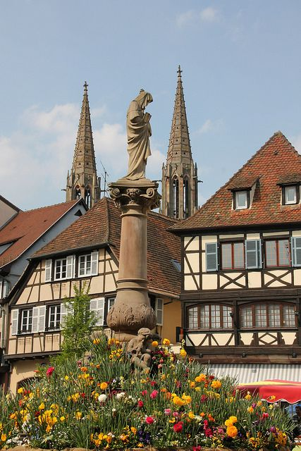 Spring in Obernai, Alsace, France