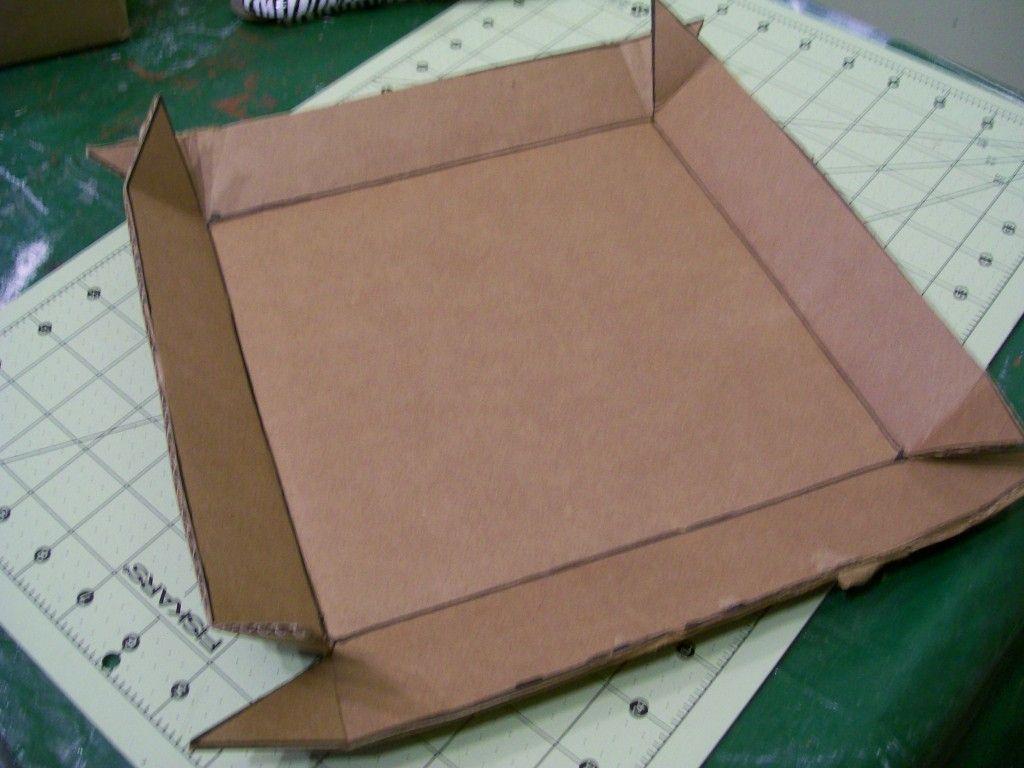 diy lidded storage box cardboard diy storage boxes cardboard boxes with lids cardboard storage. Black Bedroom Furniture Sets. Home Design Ideas