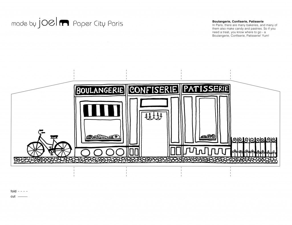 Patisserie Template-Printble Paper Paris - Made by Joel Paper City ...