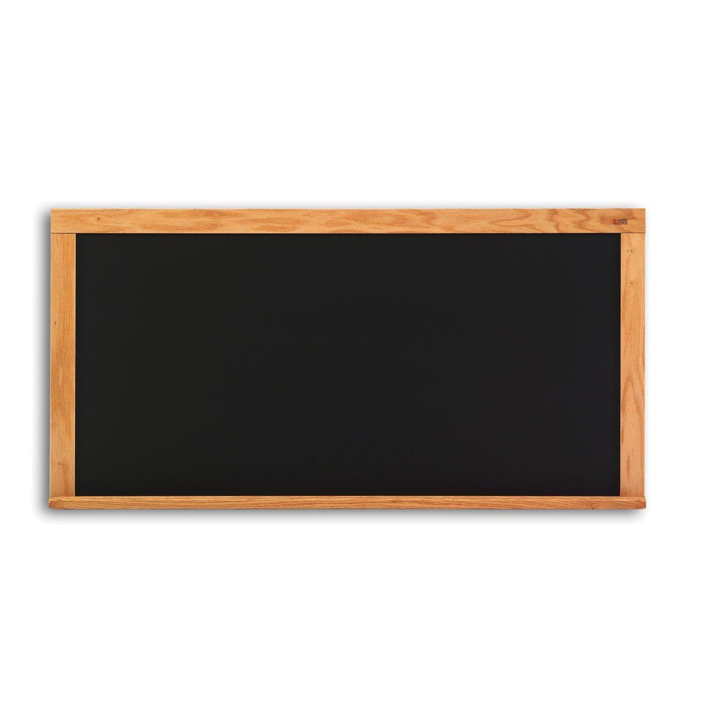 """Offex 33.5""""x45.5"""" Composition Chalkboard, Oak Wood Trim"""