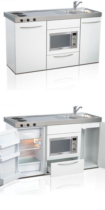 Mini Kitchen Compact Tiny Small E Saver Elfin Kitchens