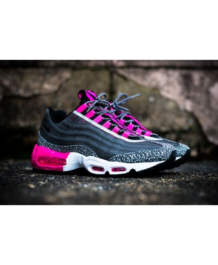 buy online 2b7da 24567 Nike Air Max 95 Premium Tape Midnight Pink Black Trainers