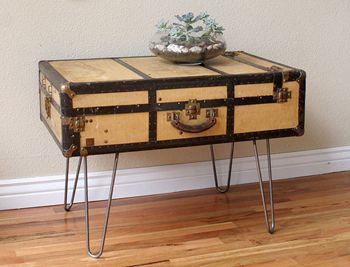 6 Unexpected Storage Container Ideas Vintage Suitcase Table