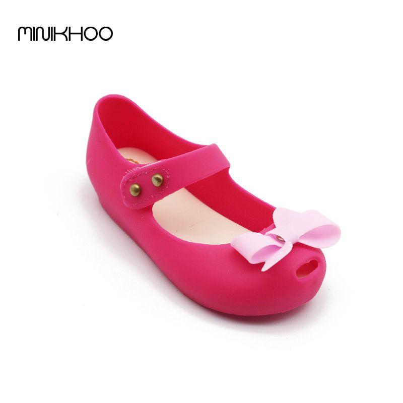 Mini Melissa Shoes Bow Girls Sandals