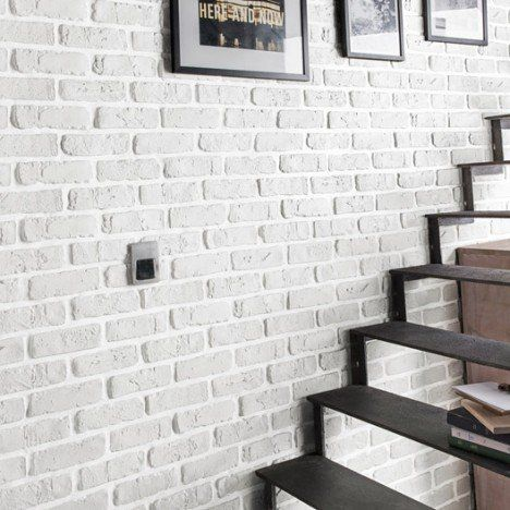 Plaquette de parement plâtre blanc Chelsea Déco MURALE Pinterest