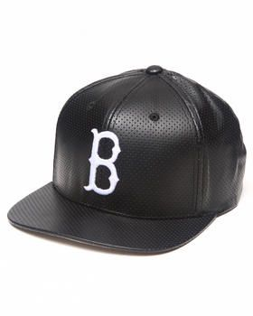 01be4fd1 Buy Boston Red Sox Perforated Faux Leather Snapback hat (Drjays.com  Exclusive// Limited Edition) Men's Accessories from American Needle.