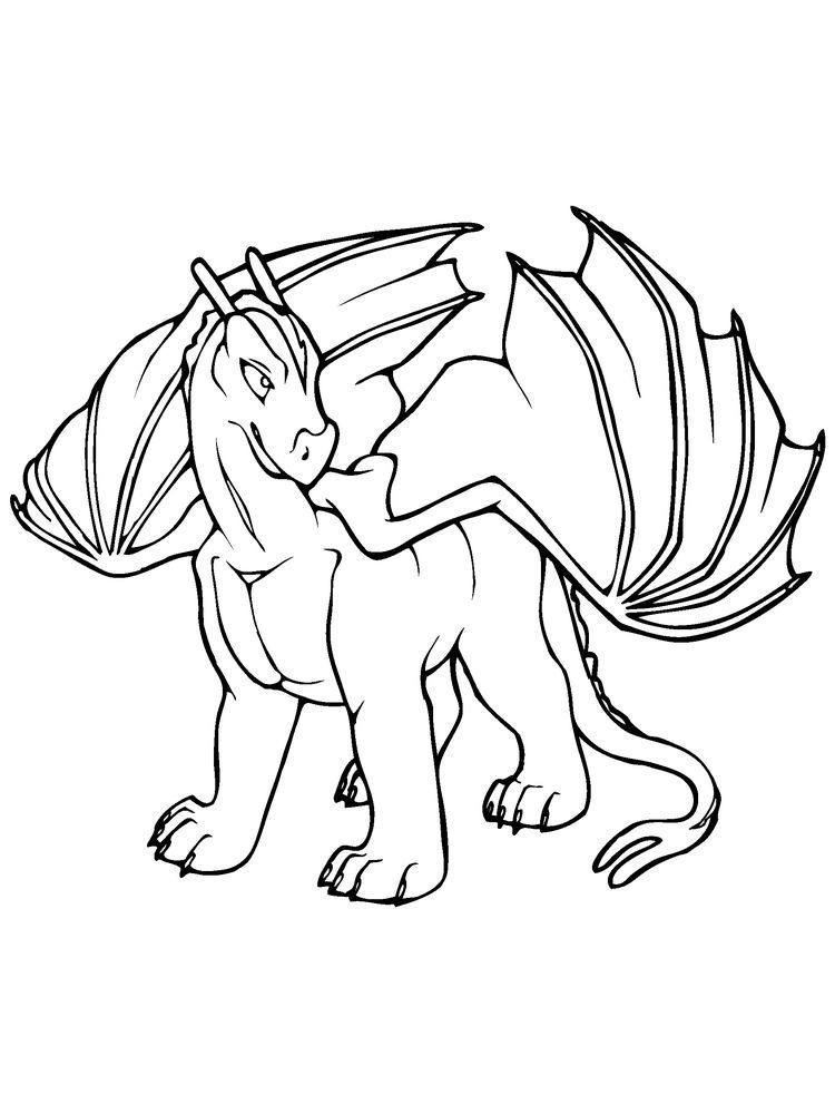 Wings Of Fire Dragon Coloring Pages : wings, dragon, coloring, pages, Dragon, Coloring, Pages, Following, Collection., Page,, Kids,, Dinosaur