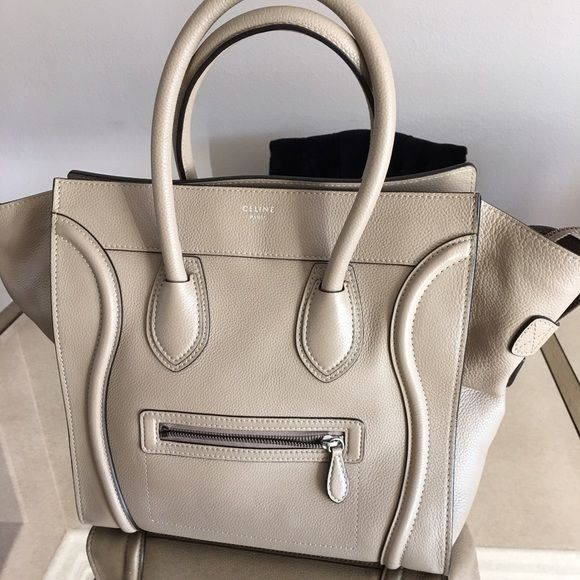 """Authentic Celine Luggage Mini (price negotiable) In pristine condition! Leather has softened and is completely lush! The name states that it's """"mini"""" but this is not the least bit small. This is two sizes up from crossbody style. No stains! Celine Bags Satchels"""
