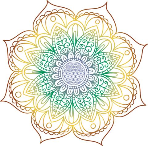 Blume Des Lebens Zeichnen Und Bedeutung Tapestry Mandala Outdoor Blanket
