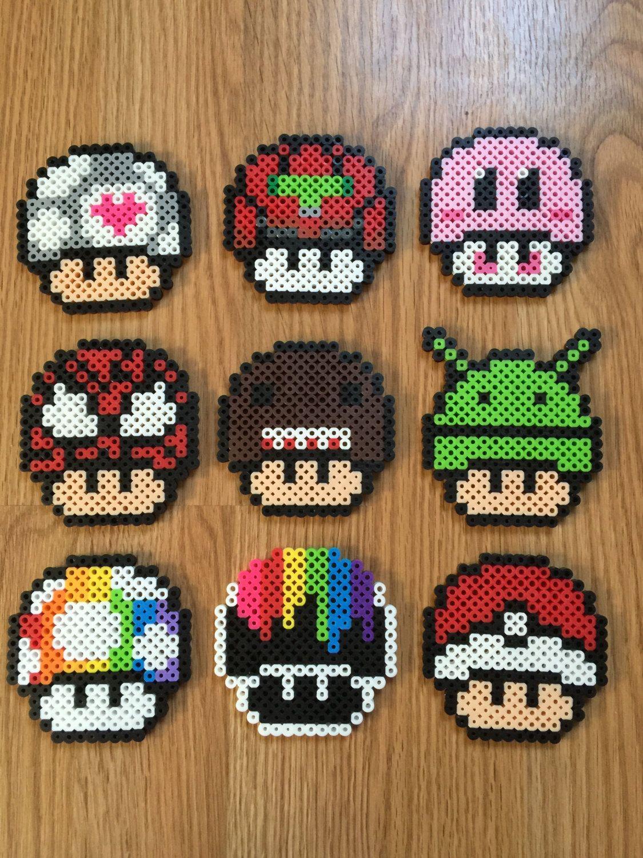 Champignons de mario pixel art pinterest mario - Como hacer sopa de setas en minecraft ...