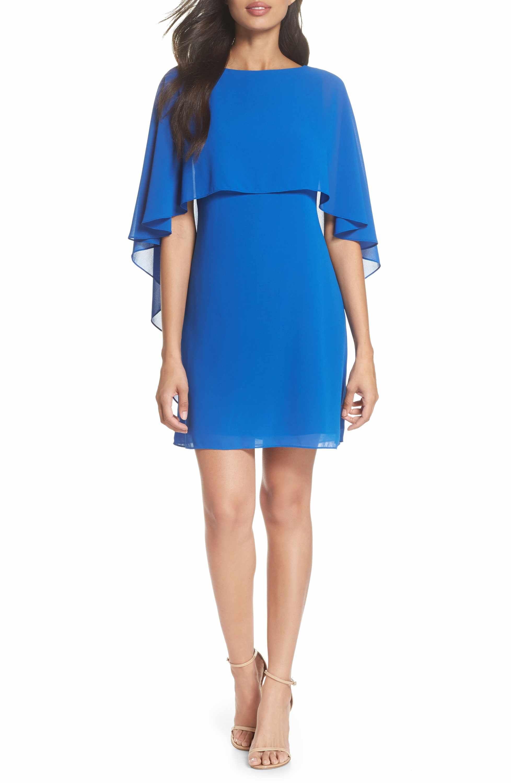 Vince Camuto Chiffon Cape Cocktail Dress Nordstrom Overlay Dress Dresses Sleek Dress [ 3000 x 1956 Pixel ]