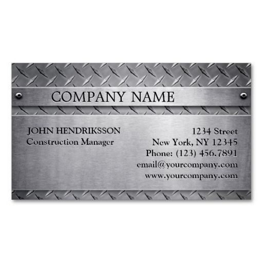 Brushed aluminum diamond plate business card business cards brushed aluminum diamond plate business card colourmoves