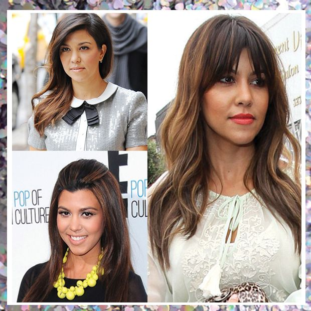 Kourtney Kardashian\u0027s balayage highlights suit her dark locks perfectly