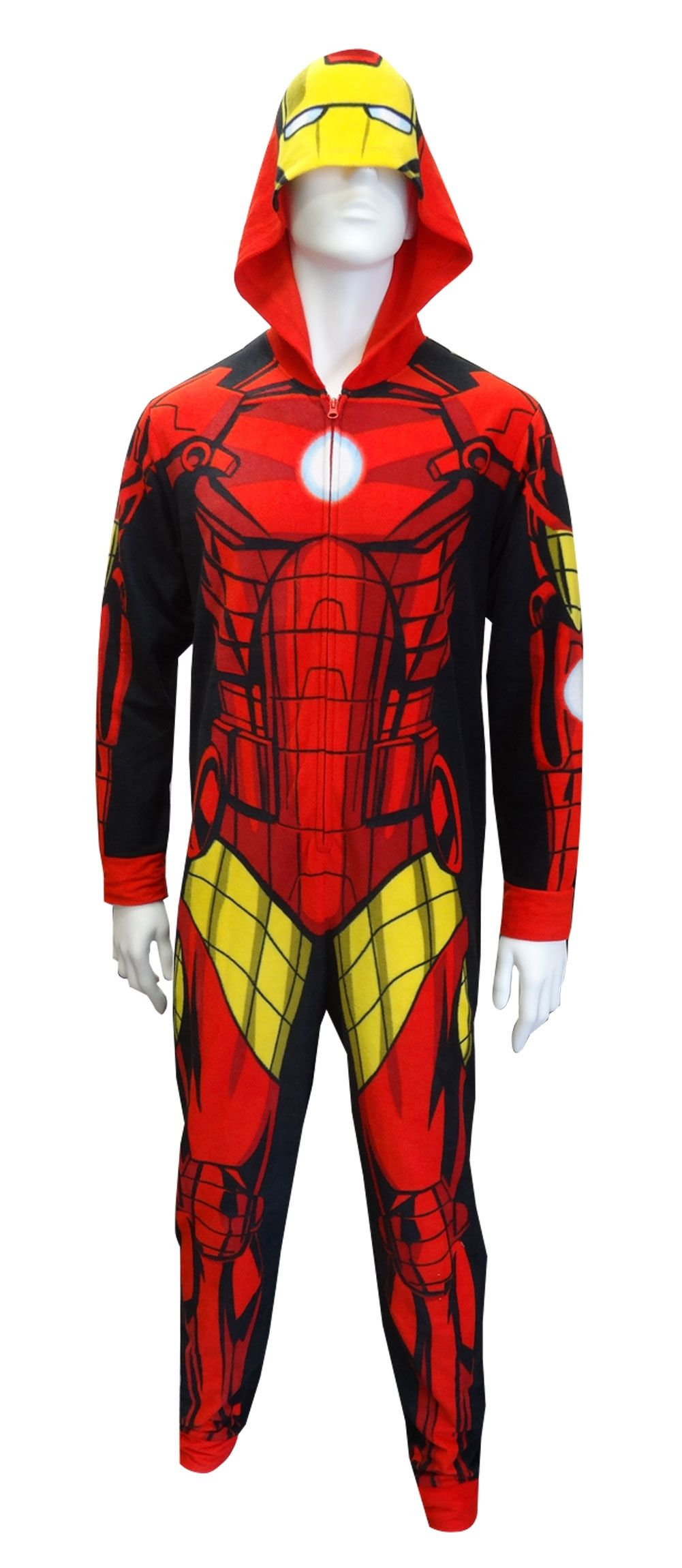 3afac1ec7 Hooded Marvel Comics Iron Man Onesie Pajama Looking to express your ...